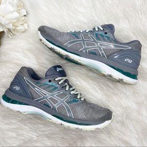 ASICS Nimbus Gel 20 Gray Blue Running Shoes